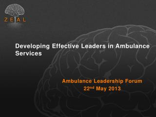 Developing Effective Leaders in Ambulance Services