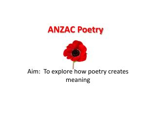 ANZAC Poetry