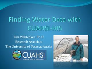 Finding Water Data with CUAHSI-HIS