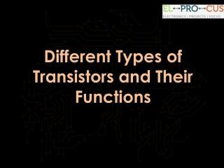 BJT Transistors: