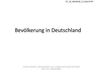 Bev ölkerung  in Deutschland