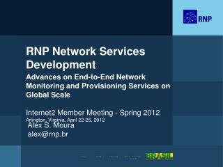 RNP Network Services  Development