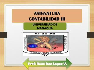 ASIGNATURA CONTABILIDAD III