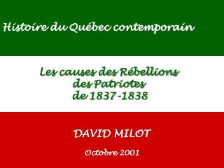 EDU-7492, David Milot, octobre 2001