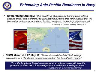 Enhancing Asia-Pacific Readiness in Navy