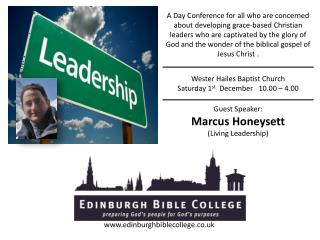 A Day Conference for all who are concerned  about developing grace-based Christian