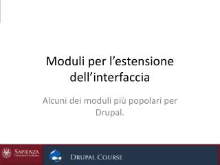 Moduli per l'estensione dell'interfaccia