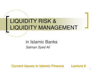 LIQUIDITY RISK  LIQUIDITY MANAGEMENT