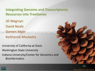 Integrating Genome and Transcriptome  Resources into  TreeGenes