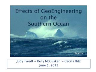 Effects of  GeoEngineering on the Southern Ocean