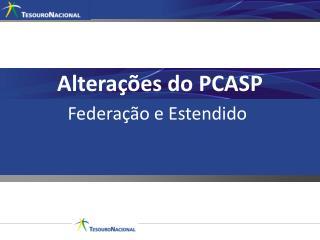 Alterações do PCASP
