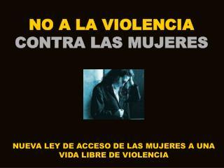 NO A LA VIOLENCIA CONTRA LAS MUJERES