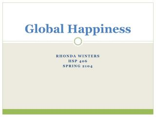 Global Happiness