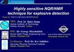 Highly sensitive NQR
