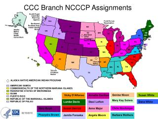 CCC Branch NCCCP Assignments