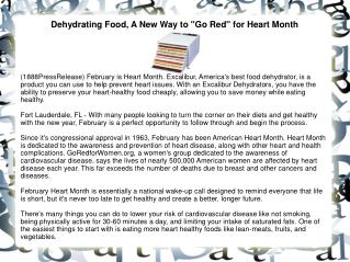 Dehydrating Food, A New Way to