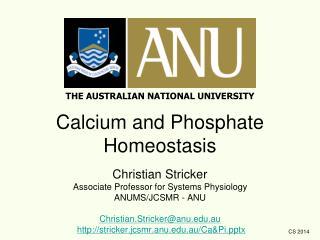THE AUSTRALIAN NATIONAL UNIVERSITY