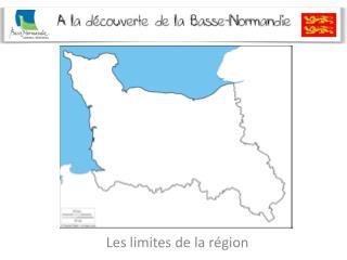 Les limites de la région