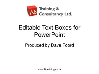 Editable Text Boxes for PowerPoint