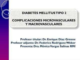 Profesor titular: Dr. Enrique Díaz  Greene Profesor adjunto: Dr. Federico Rodríguez Weber