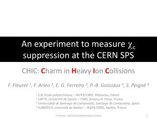 An experiment to measure  c c  suppression at the CERN SPS