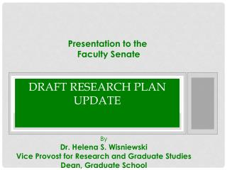Draft Research Plan update