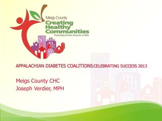 APPALACHIAN DIABETES COALITIONS : CELEBRATING SUCCESS 2013