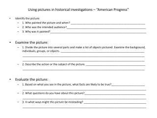 "Using pictures  in historical investigations – "" American Progress"""
