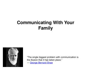 Communicating With Your Family