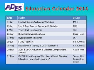 Education Calendar 2014