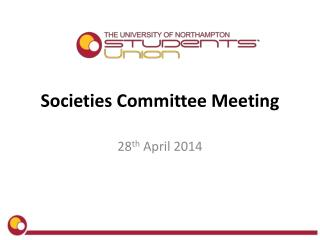 Societies Committee Meeting