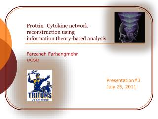 Protein- Cytokine network  reconstruction using  information theory-based analysis