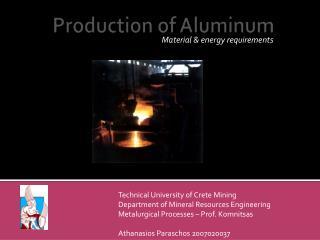 Production of Aluminum