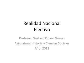 Realidad Nacional Electivo