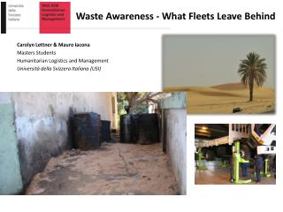 Waste Awareness - What  Fleets Leave Behind