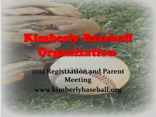 Kimberly Baseball Organization