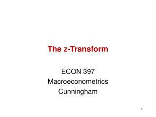 The z-Transform