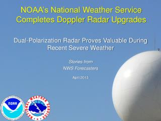 NOAA's National  Weather Service  Completes Doppler  Radar  Upgrades