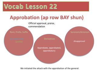 Approbation ( ap  row BAY shun)