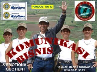 HANDOUT NO  12