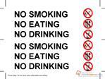 NO SMOKINGNO EATINGNO DRINKING