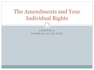 The Amendments and Your Individual Rights
