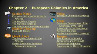 Chapter 2 � European Colonies in America