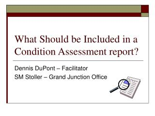 What Should be Included in a Condition Assessment report
