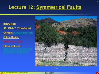 Lecture 12: Symmetrical Faults
