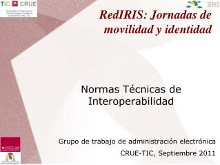 RedIRIS: Jornadas de movilidad y identidad