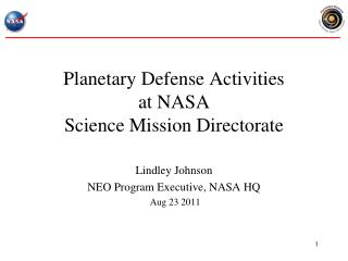 Planetary Defense Activities at NASA Science Mission Directorate