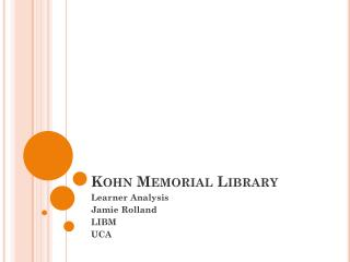 Kohn Memorial Library
