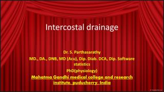 Intercostal  drainage