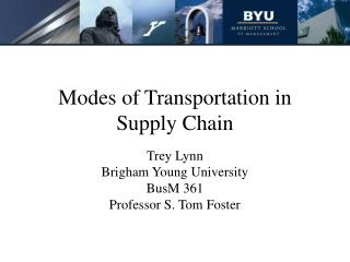Modes of Transportation in Supply Chain